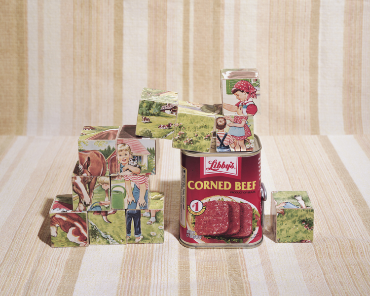 fresh corned beef (preserved in can)