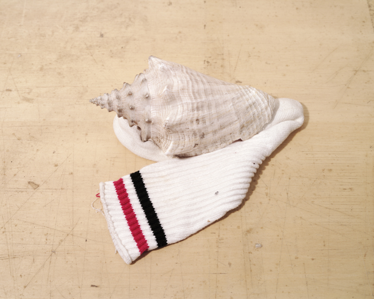 gym sock paired with shell
